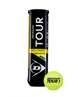 Set 4 mingi tenis Dunlop Tour Brilliance